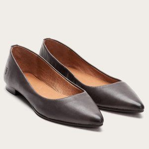 Frye Sienna Leather Ballet Flats in Charcoal 8m